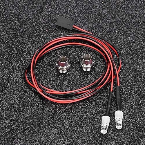 RC LED Licht Kits, 2PCS 5mm Scheinwerfer RC Zubehör LED Lichter für 1/10 Modell Drift Auto Fahrzeug( 11 # blaues Licht)
