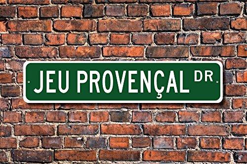 Jeu provençal Sign ventilateur Jeu provençal Cadeau Français Forme de boules de pétanque Décoration de la Maison Panneau plaque murale en métal Alunimum 45x 10cm