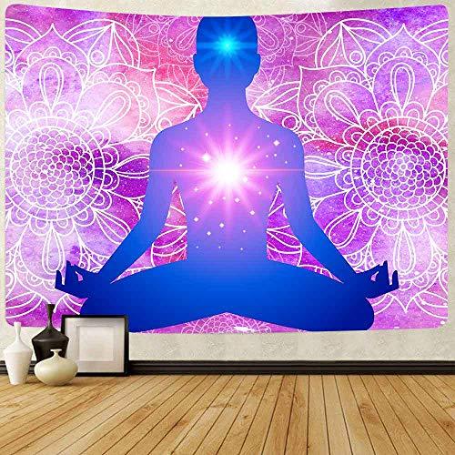 Tapiz Chakra Tapiz Yoga Colorido Flor Colgar Tapices Para Salón Decoración Del Hogar