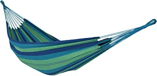 Sunnydaze Brazilian Double Hammock, 2 Person Portable Bed - for Indoor or Outdoor Patio, Yard, and Porch (Beach Oasis)