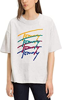 Tommy Hilfiger T-Shirts For Women, Grey M (M -8719704416001)