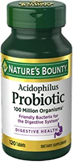 Nature's Bounty Probiotic Acidophilus Dietary Supplement Tablets, 100 ea - 2pc