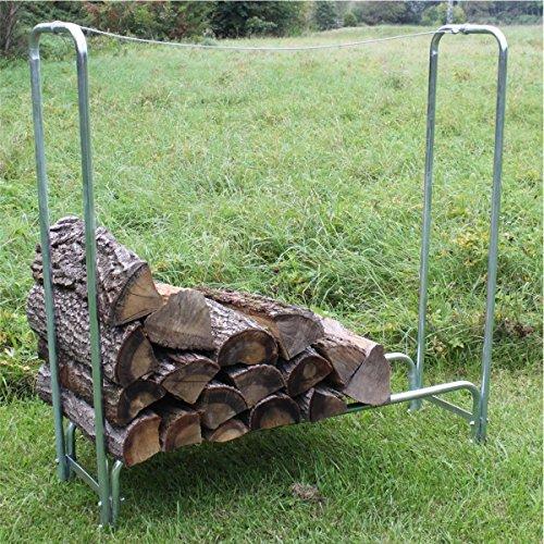 Brennholz-Regal Kaminholz-Regal Stapelhilfe Holz-Regal Metall Holzlager verzinkt