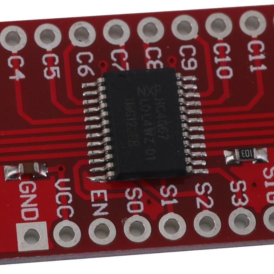 記憶に残る平手打ち権限デジタル 16チャネル MUXボード アナログスイッチ ブレイクアウト モジュール