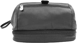 Piel Leather U Frame Utility Kit with Zip Bottom, Black, One Size