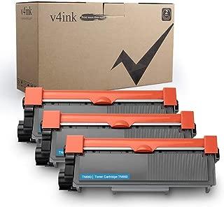 V4INK 3-Pack Replacement for Brother TN630 TN660 Toner Cartridge Black for Brother HL-L2340DW HL-L2300D HL-L2380DW MFC-L2700DW L2740DW DCP-L2540DW L2520DW HL-L2320D MFC-L2720DW L2740DW Printer
