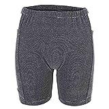 Simlugn Inkontinenz-Unterwäsche für Männer Frauen Baumwolle Atmungsaktiv Waschbar Wiederverwendbare Blase Patient Urinbeutel Hose Double Pocket Design(M-Weiblich)