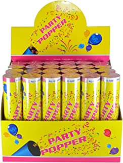 Confetti Poppers Party Accessory 8 Inch (12 Pack)