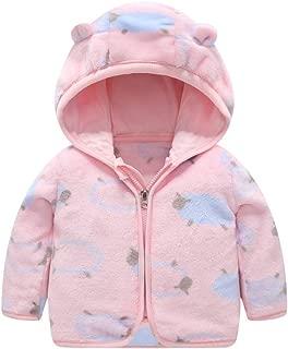Baby Boys Girls Thick Hooded Coats GoodLock Toddler Kids Cute Ear Zipper Print Warm Outwear