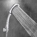OMORC Cabeza de Ducha Con 1.5 m Manguera, Con 5 Opciones del flujo del Agua, Cabeza de Ducha Enchapado de cromo y Manguera de Agua de Acero Inoxidable.