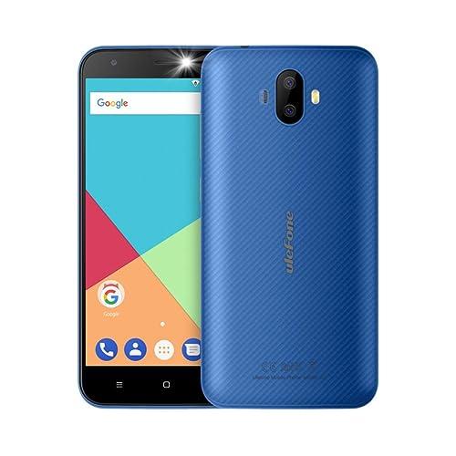 """Ulefone S7-5,0"""" 3G Smartphone, Android 7.0 Quad Core 1Go+8 Go, Double SIM, Appareil Photo 8MP+5MP et Frontal 5MP, Bleu Téléphones Portables Débloqués"""