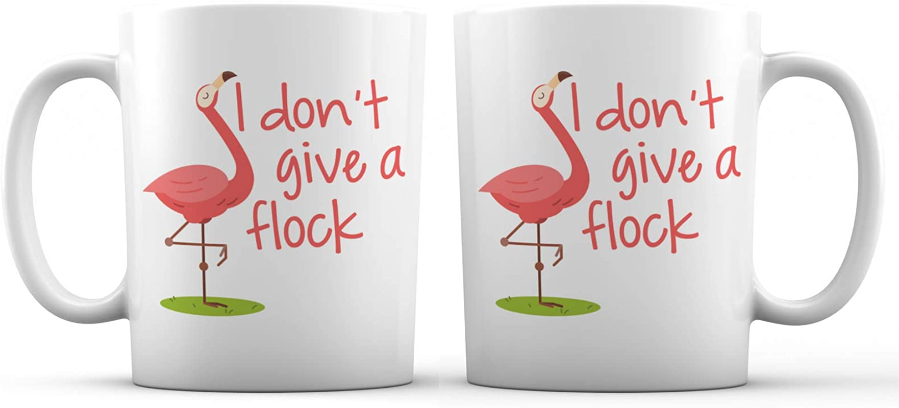 I Don T Give A Flock Reckless Flamingo Funny Ceramic Coffee Mug 11 Oz Awesome New Design Decorative Sarcastic Gift Cup Accessory For Women Men Girls Mom Wife Girlfriend Boyfriend