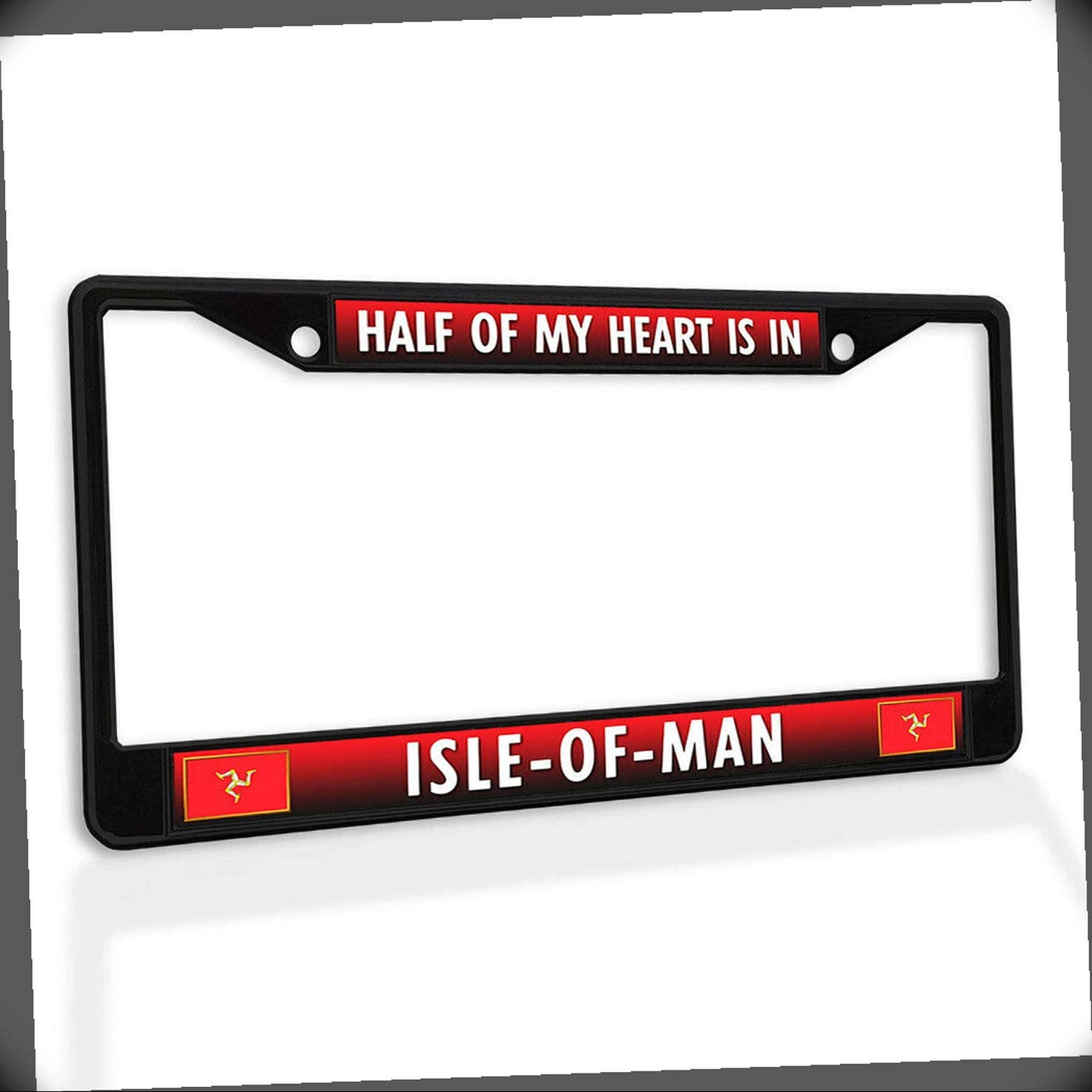 New Selling and selling License Plate Frame Half of Daily bargain sale Isle-of-Man in My Heart Metal is