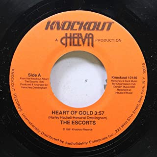 The escorts 45 RPM Heart of gold / Sing a happy song