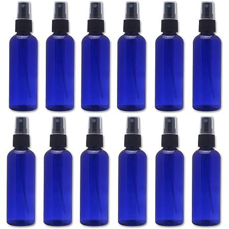 スプレーボトル 12本セット 詰替ボトル 遮光 空容器 霧吹き(100ml ブルー)