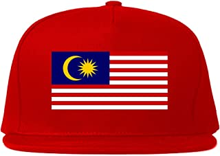 Malaysia Flag Country Printed Snapback Hat Cap