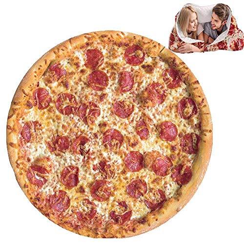 GZGZADMC Pizza - Manta burrito para sofá suave y de peluche, toalla de playa, alfombra para dormitorio o exterior, 4 estaciones, 180 cm