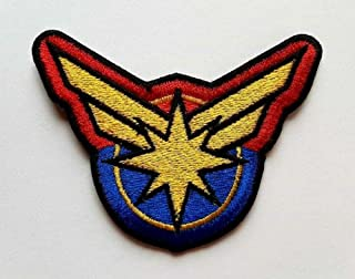 Captain Marvel Movie Iron On Patch Sew On Embroidered Patch T Shirt Jacket Patch