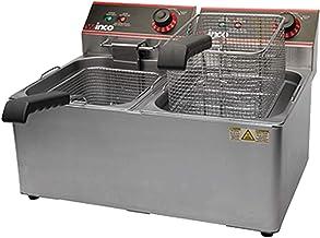 Winco EFT-32 Electric Deep Fryer، 1800W، 120V، 60Hz، Twin Well، 32 پوند. ظرفیت روغن ، تعداد 1