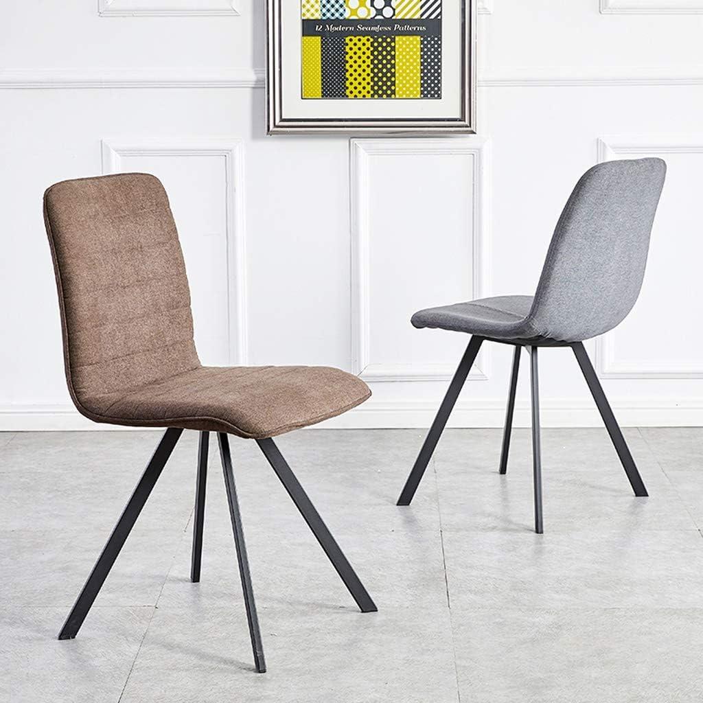 SLL- Chaise de Salle, Chaise de Bureau Simple, créative Dossier, Chaise Loisirs, Maison Adulte Chaise de Salle Moderne (Color : Brown) Gray