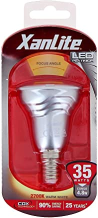 Xanlite VV35S Ampoule 35W E14 Angle Focalise 36, Plastique + Aluminium, 4 W,