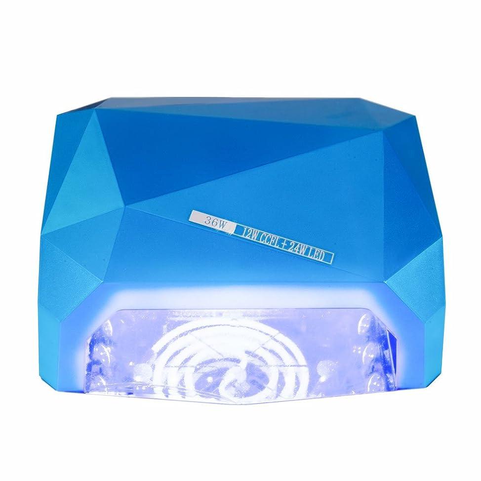 苦帰するモーテルネイル光線療法機 ネイルドライヤー - 36wネイルランプCCFLネイル光線療法ランプ36WネイルLED光線療法ランプUV + LEDダイヤモンド光線療法マシン