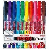 三菱鉛筆 水性ペン プロッキーツイン 極細 10色 PM120T10CN