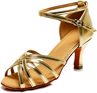 VASHCAME-Chaussures a Talons Hauts de Danse Latine Sandales pour Femme