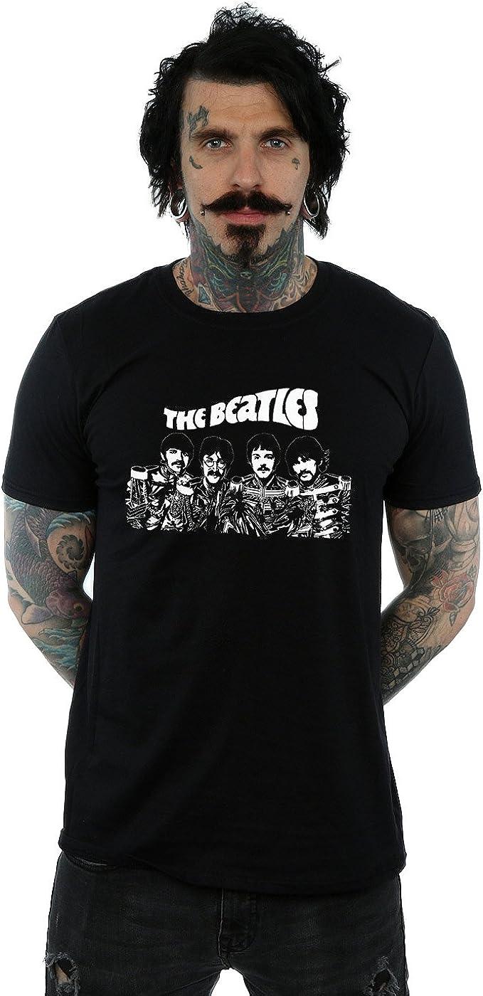 The Beatles Hombre Cartoon Camiseta: Amazon.es: Ropa y accesorios