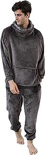 YAOMEI Mens Pyjamas Winter suit Long, 2021 Mens Super thick long pajamas suit Sleeves Nighties Couples PJ Set Sleepwear Ni...