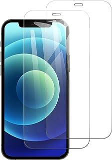 【2枚セット 透明】iPhone 12/ iPhone 12 Pro 用ガラスフィルム 日本製素材旭硝子 強靭9H 各種ケースに対応 自動吸着 飛散防止処理 透過率が99% 防指紋 Face ID 強化ガラス 液晶保護フィルム(6.1 inch)