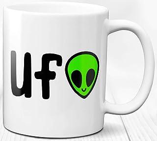 Taza de café Tema spaziale alieno UFO 330 ml 330 ml Taza de cerámica Regalo Abanico de ciencia ficción