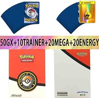 100 Pcs Pokemon EX GX MEGA Trainer Energy Cards(80EX+20MEGA)