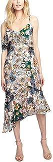 Womens Wonderlust Floral Ruffled Midi Dress