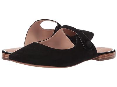 LINEA Paolo Darling Slip-On Mule (Black Suede) Women