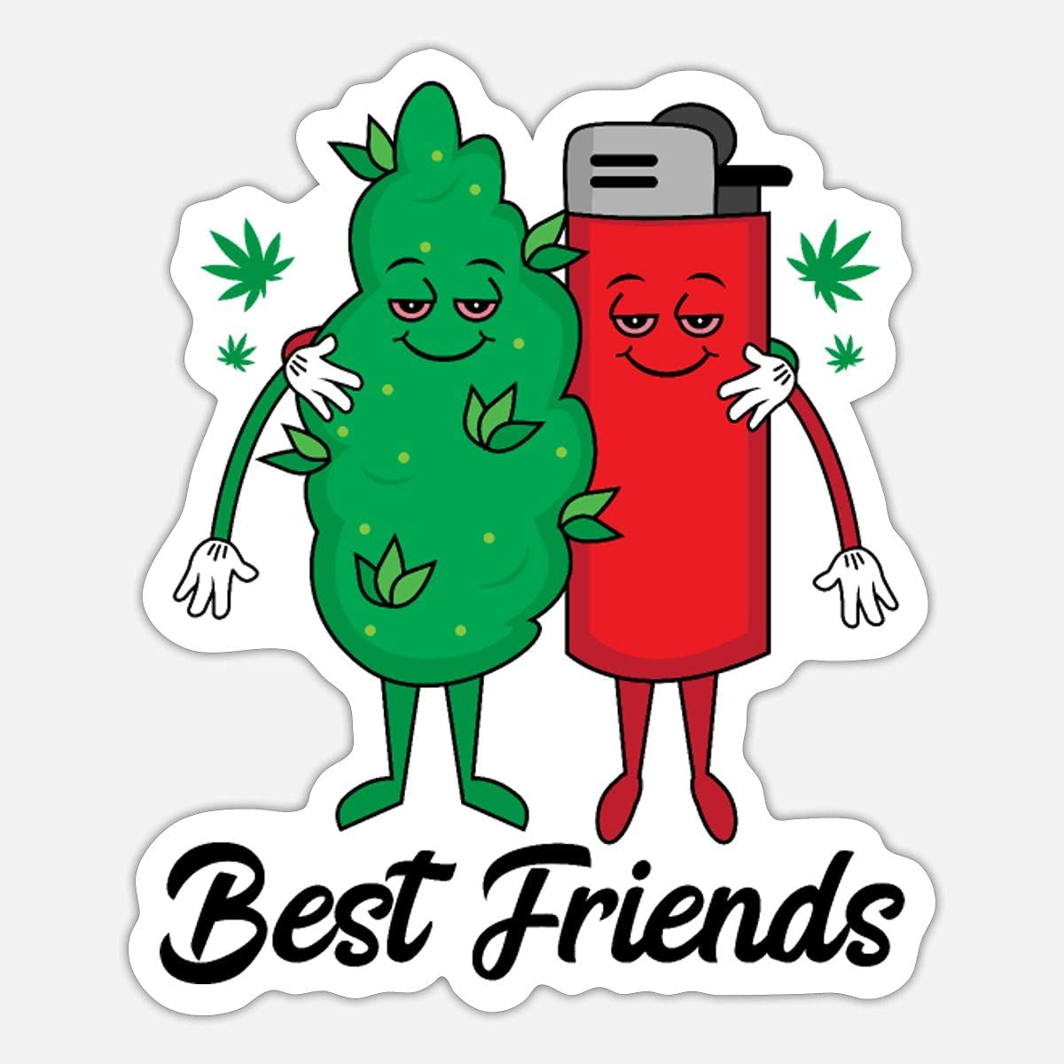 Best Friends  Great interest Funny Sticker Vinyl Phone Bottle Laptop Max 67% OFF for Water