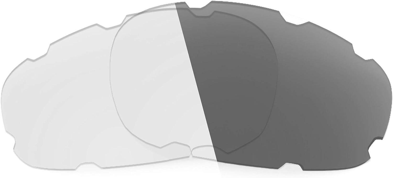 Revant Verres de Rechange pour Oakley Wind Jacket Vented (Coupe Asiatique) Photochromique Gris Adaptatif Nonpolarisés Elite