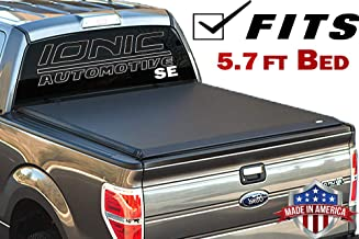Ionic Premium SE Roll Up Tonneau Truck Bed Cover 2009-2018 Dodge Ram 5.7 Ft Bed w/RamBox