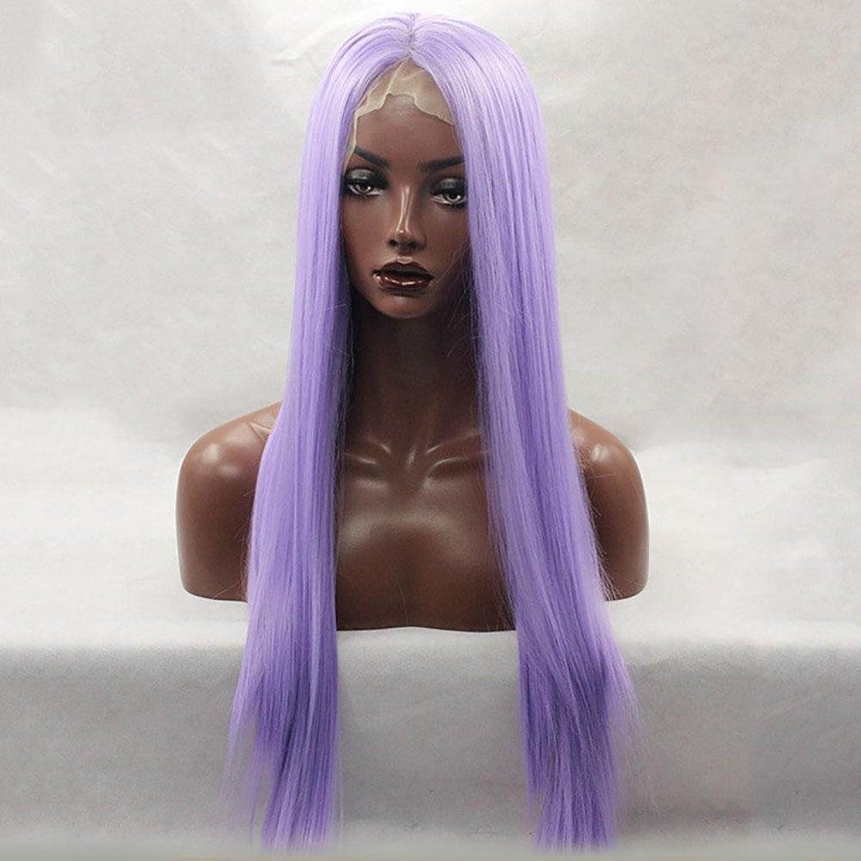 JIAFA 70 cm Frauen Perücke Synthetischen Ehemalige Spitze Langes glattes Haar Perücke Legt purple