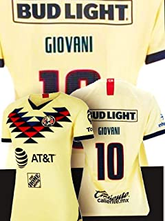 Soccer New Club America Woman Amarilla Yellow Jersey 2019