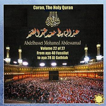 Coran, The Holy Quran Vol 22 of 27