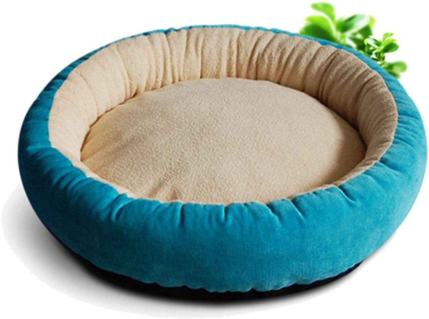 Kennel Cat Bed Pet Nest Red, Round, Size M L, Three colors to Choose from (Size   2-L45cm)