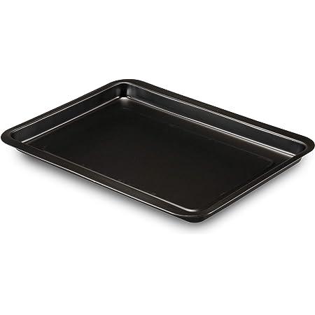 Formegolose Plaque à pâtisserie, noire, dimensions extérieures (35,9 cm x 39,4 cm), dimensions intérieures (32 x 37 cm)