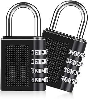Combinatie hangslot, [2 Pack][Nieuwe versie]Diyife 4-cijferige combinatieslot, hangslot voor schoolsportlocker, archiefkas...