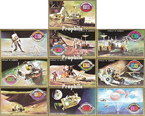 UMM al Qaiwain 563A-572A (Complete.Issue.) 1972 Apollo 15 (Stamps for Collectors) Space