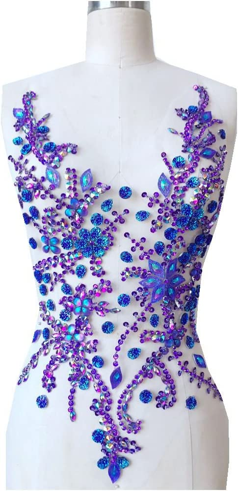Weekly update Pure Hand Made Crystals Al sold out. Patches Sew Rhinestone Appliqu on Purple