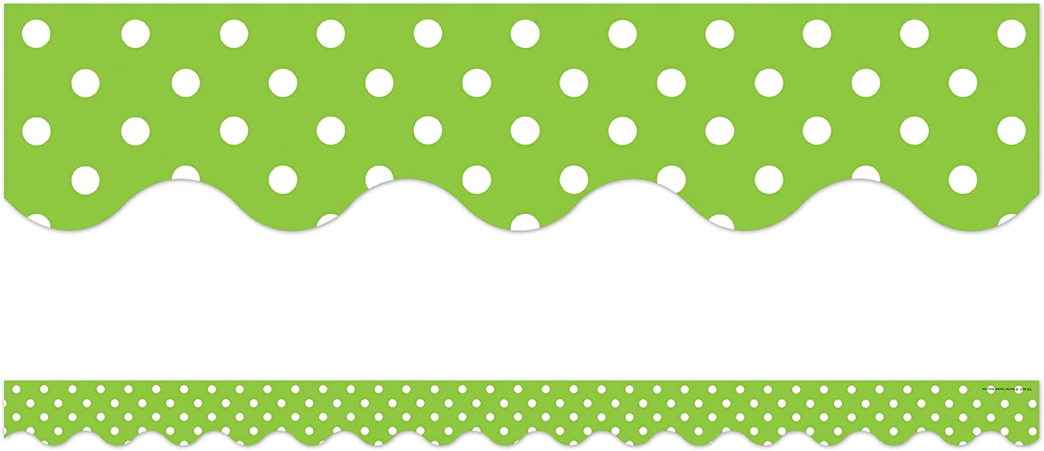 Teacher Created Resources Manufacturer regenerated product Mini Polka 466 Oakland Mall Dots Border Lime Trim