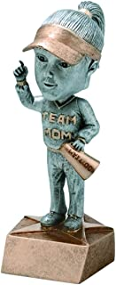 Decade Awards Team Mom Bobblehead Trophy - Booster Award, Female - 6 Inch Tall - Engraved Plate on Request