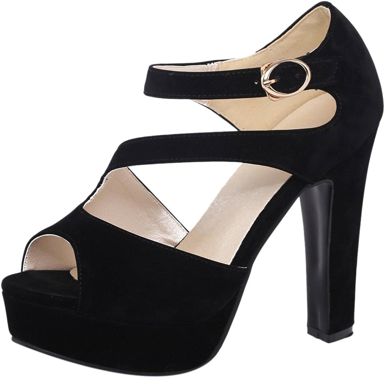 AicciAizzi Women Block Heel Sandals Platform
