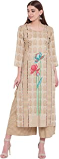 VOOM Beige Rayon Straight Stitched Suit